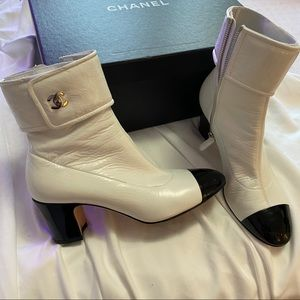 100% authentic Chanel booties
